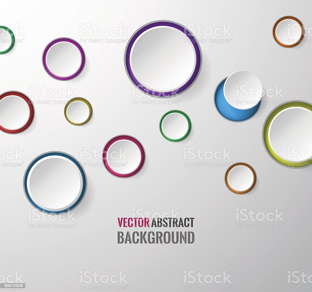 Circle Round Colored Bubbles Wallpaper Royalty Free Vector Abstract Background