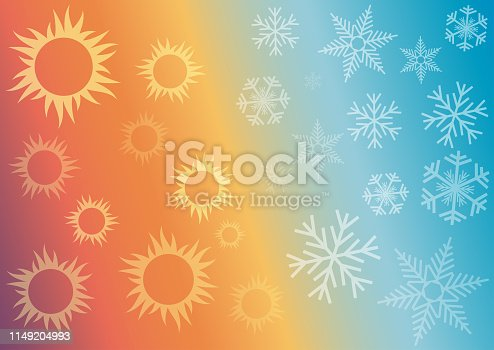 Vector abstract background domestic heating and cooling.