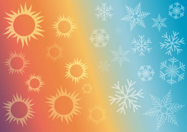 illustrations, cliparts, dessins animés et icônes de fond abstrait de vecteur chauffage domestique et refroidissement. - chaleur