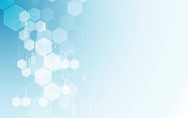 ilustrações, clipart, desenhos animados e ícones de vetor fundo abstrato hexágonos padrão sci fi conceito de inovação e tecnologia - planos de fundo de ciências