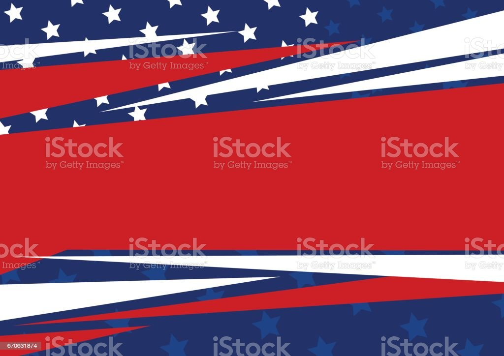 Vector abstract background of American flag design for independence day, memorial day and other celebration vector art illustration