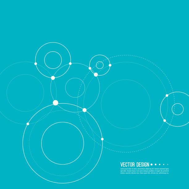 ilustraciones, imágenes clip art, dibujos animados e iconos de stock de vector abstracto fondo. - conexión