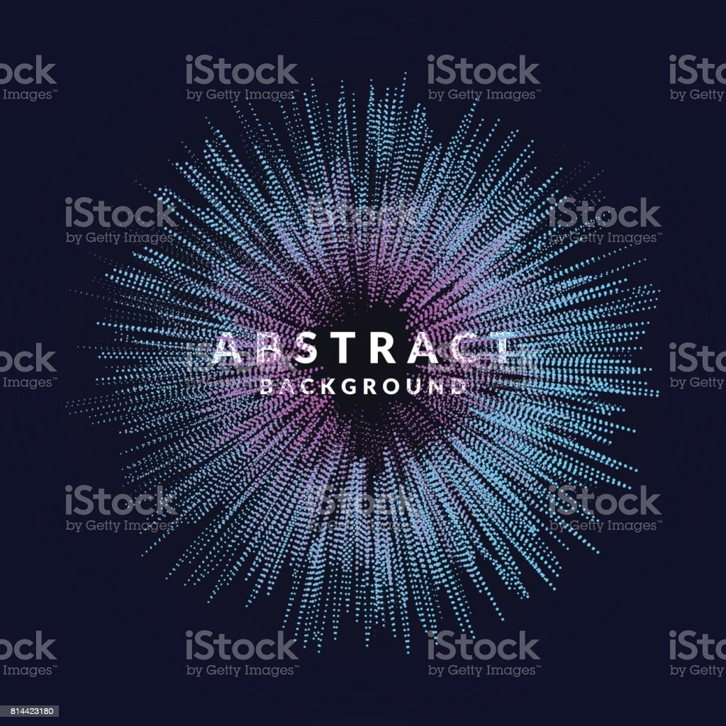 Vector abstract background with a colored dynamic waves, line and particles. Illustration in minimalistic style vector art illustration