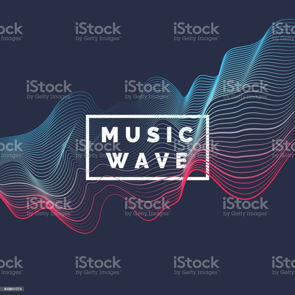 Vector abstract background with a colored dynamic waves, line and particles royalty-free vector abstract background with a colored dynamic waves line and particles stock illustration - download image now