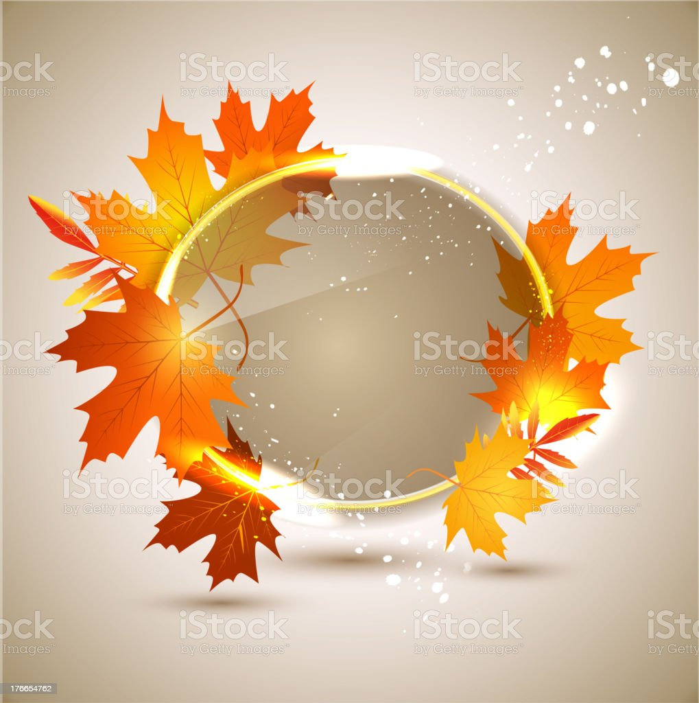 Vector abstract background with autumn leaves royalty-free vector abstract background with autumn leaves stock vector art & more images of abstract