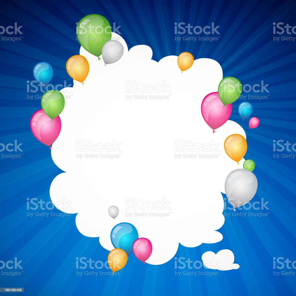 Vector Abstract Background with Balloons royalty-free stock vector art