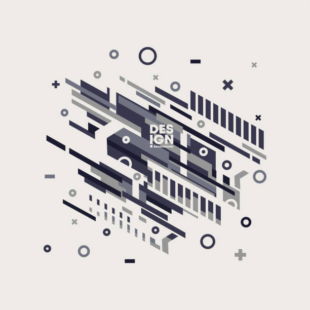Vector abstract background with black and grey colored shapes, geometric modern composition with lines shapes vector art illustration
