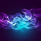 Abstract background with burning lines