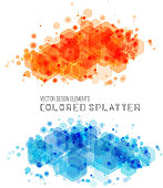 Vector abstract background with color splash