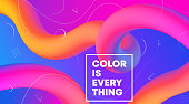 Fluid abstract design, design poster template, flowing shapes - eps 10