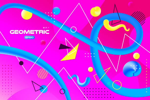 Vector abstract background with colorful fluid gradient shapes, liquid design, flow abstract, geometric shapes composition vector art illustration