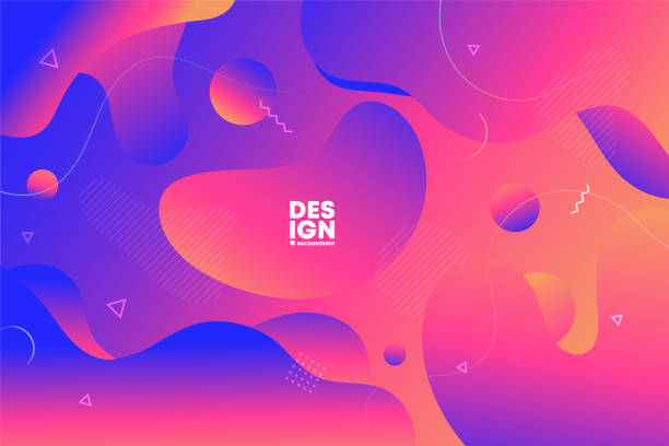 Vector abstract background with colorful fluid gradient shapes, liquid design vector art illustration