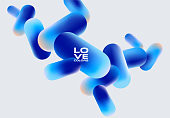 Fluid medicine pills abstract design, design poster template, flowing shapes - eps 10