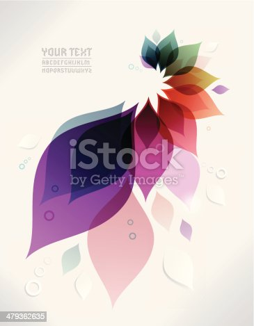 istock Vector abstract background with colorful leaves 479362635
