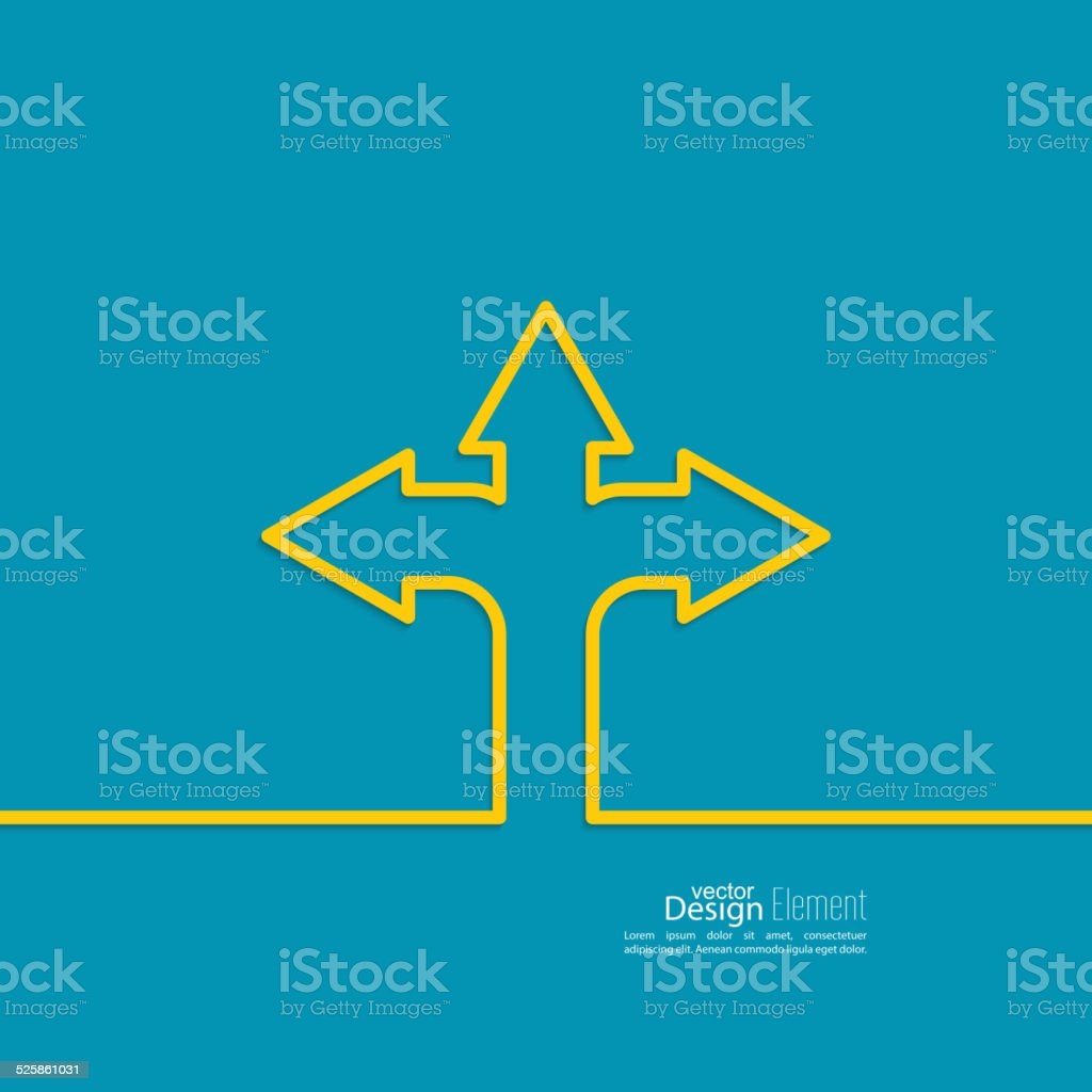 Vector abstract background with direction arrow sign. vector art illustration