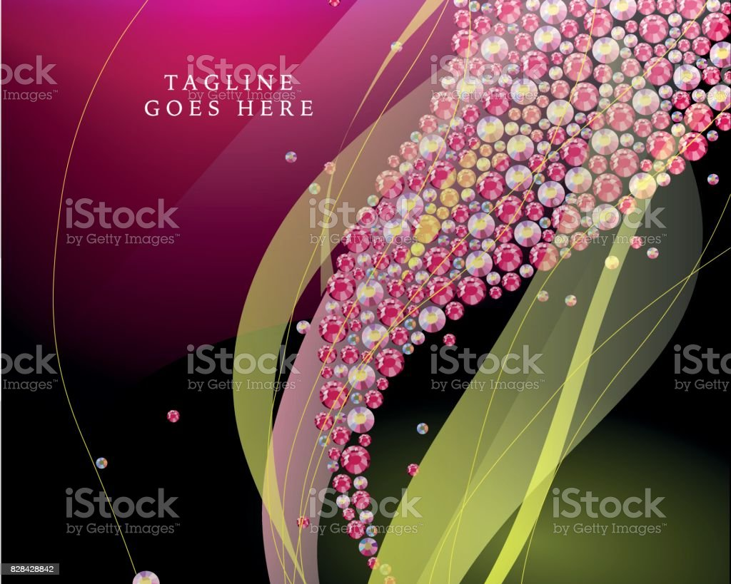 Vector Abstract Background With Rhinestone Pattern And Transparent