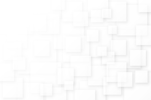 Abstract background made from overlapping white transparent square shapes.