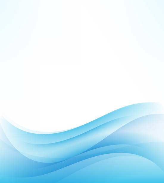 Vector abstract background.Blue abstract wave background Elegant vector abstract background Blue abstract wave background blue borders stock illustrations