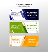 Collection of web banner template. Abstract geometric web design banner template