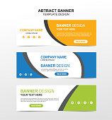 Vector abstract banner design web template. Flat vector design