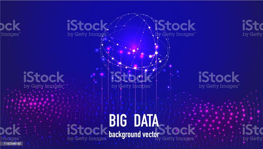 Vector abstract big data.Big data stream futuristic infographic....