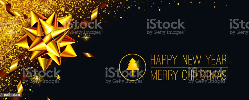 vector abstract black gold new year and christmas background gold party celebration design holiday