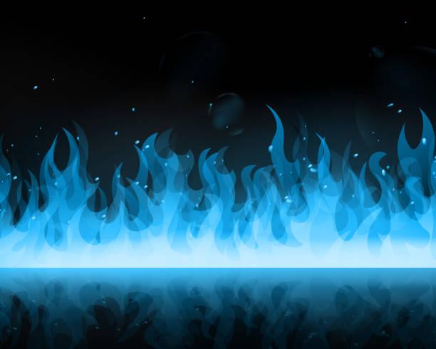 Vector Abstract Blue Fire vector art illustration