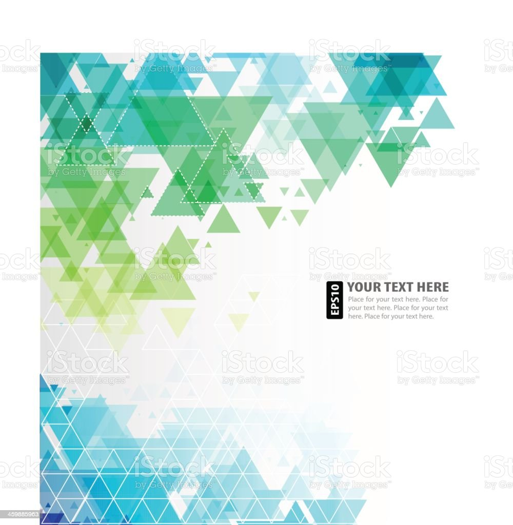 Vector abstract blue mosiac triangles, copy space royalty-free stock vector art