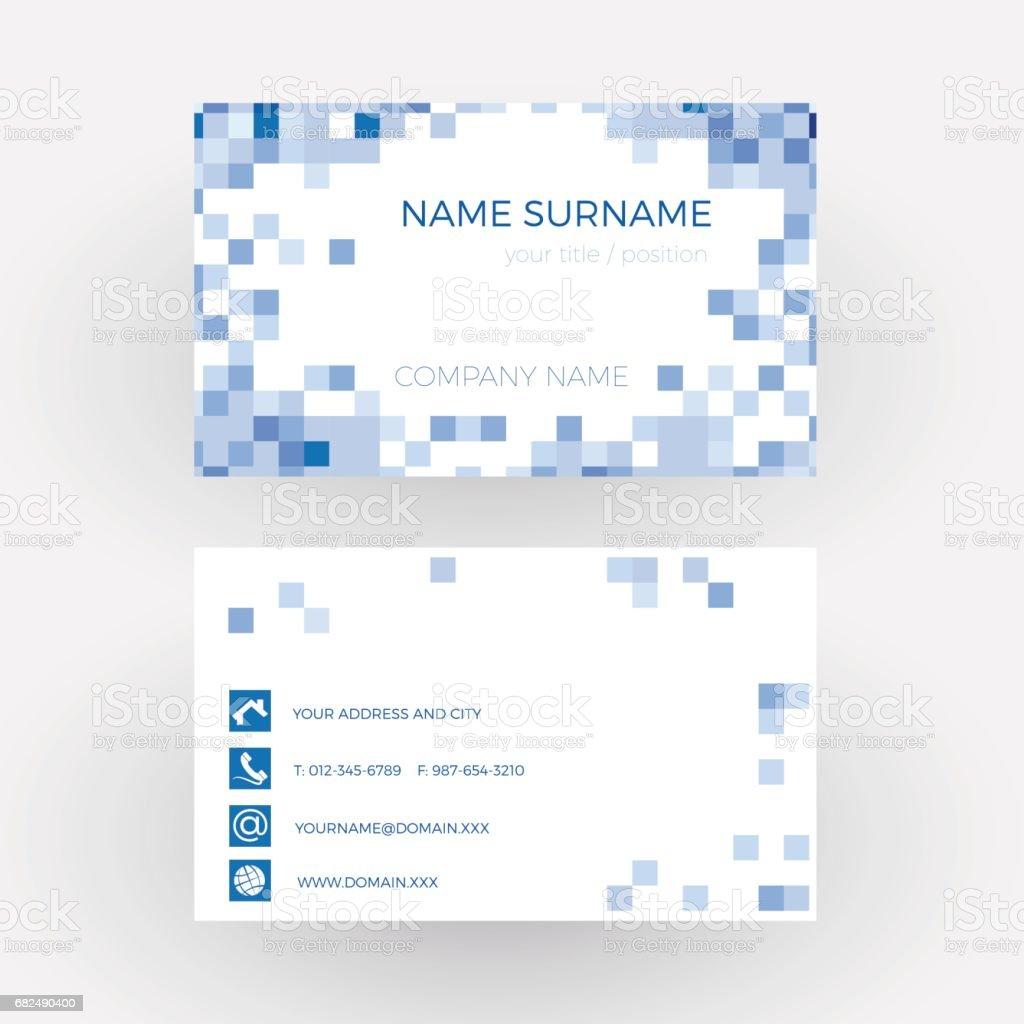 Vector Abstract Blaue Quadrate Visitenkarte Stock Vektor Art Und Mehr Bilder Von Abstrakt
