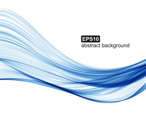 Vector abstract blue waves background. vector art illustration