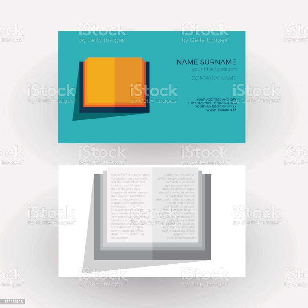 Vector Abstract book, concept of writer and bookstore. Business card royalty-free vector abstract book concept of writer and bookstore business card stock vector art & more images of abstract
