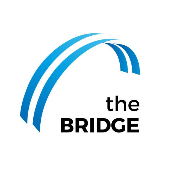 vector abstract bridge, connection concept - bridge stock illustrations
