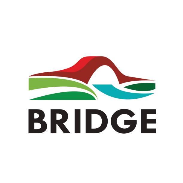 Vector abstract bridge, verbinding conceptvectorkunst illustratie
