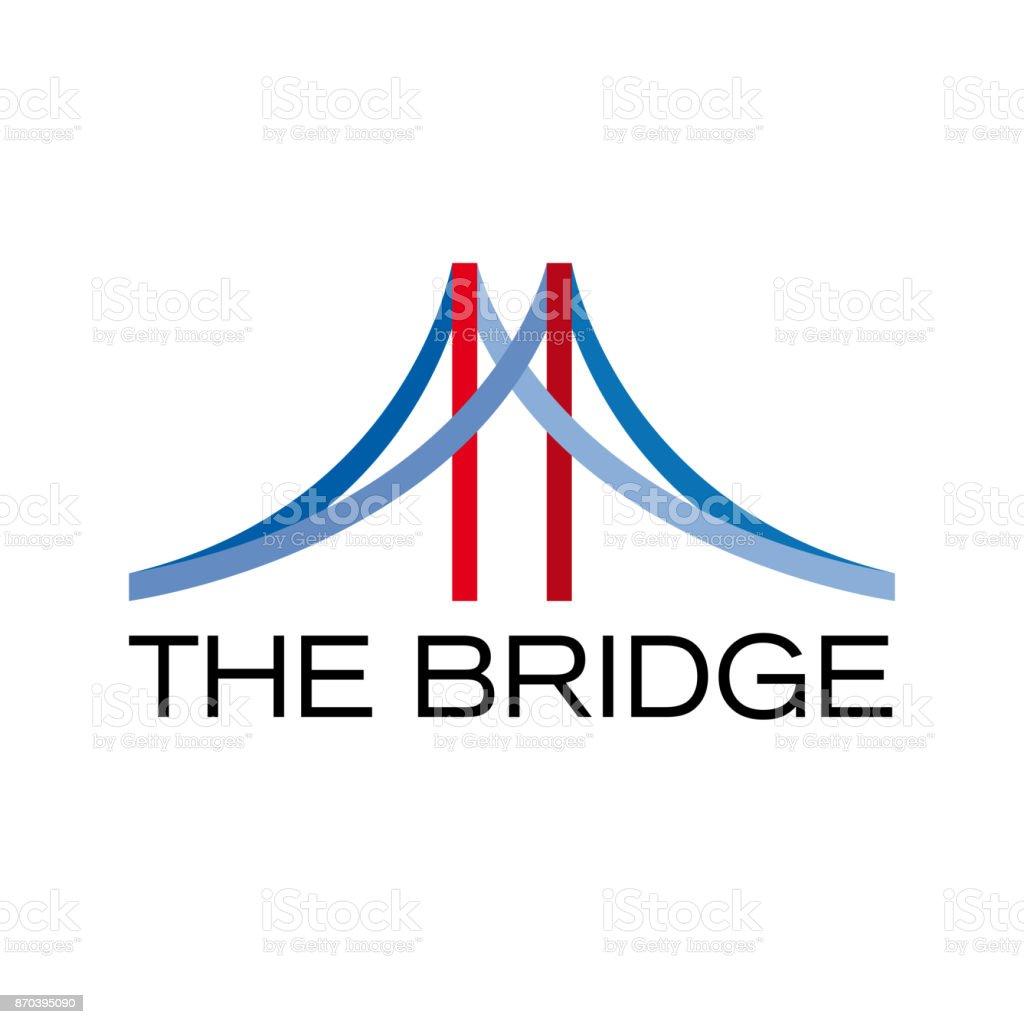 Vector abstract bridge, connection concept vector art illustration