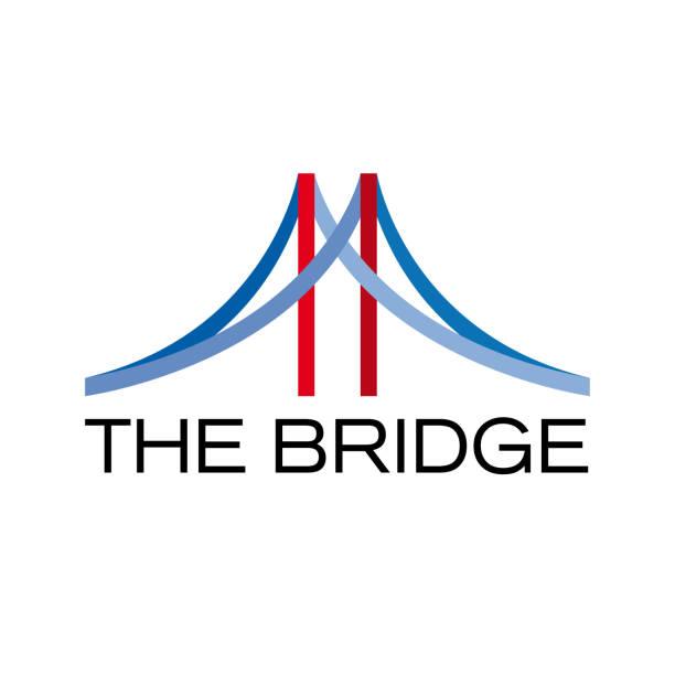 벡터 추상 다리, 연결 개념 - bridge stock illustrations
