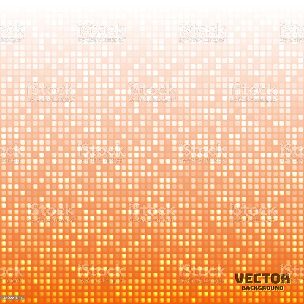 ベクトル抽象的な明るいモザイク ライト オレンジ色のグラデーション背景
