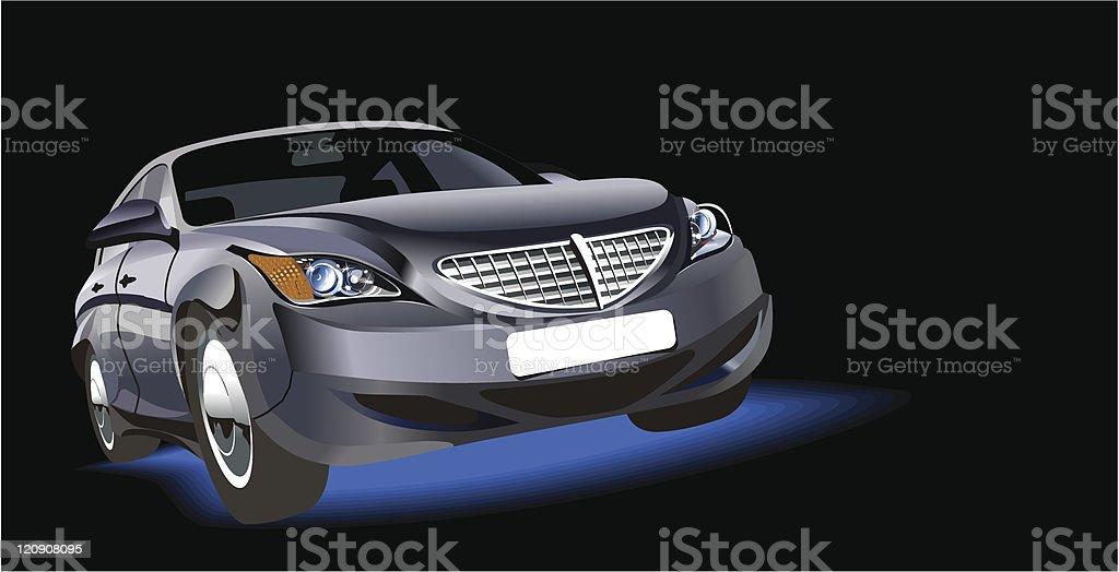 Vector abstract car royalty-free stock vector art