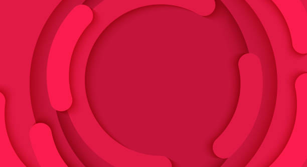 illustrazioni stock, clip art, cartoni animati e icone di tendenza di cerchio astratto vettoriale un modello di sfondo rosso - sfondi