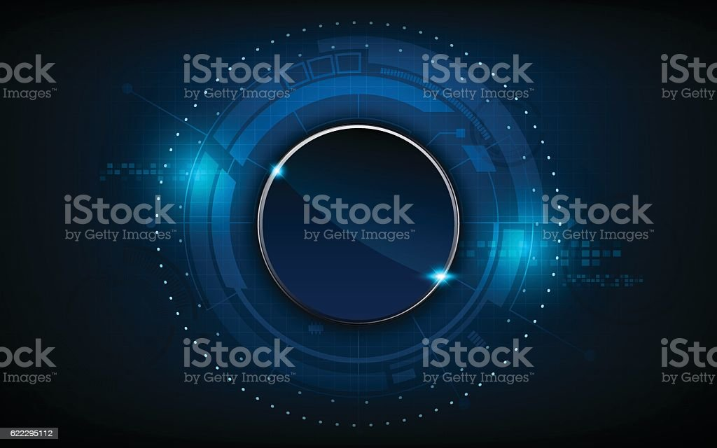 vector abstract circle button interactive  technology innovation pattern design background