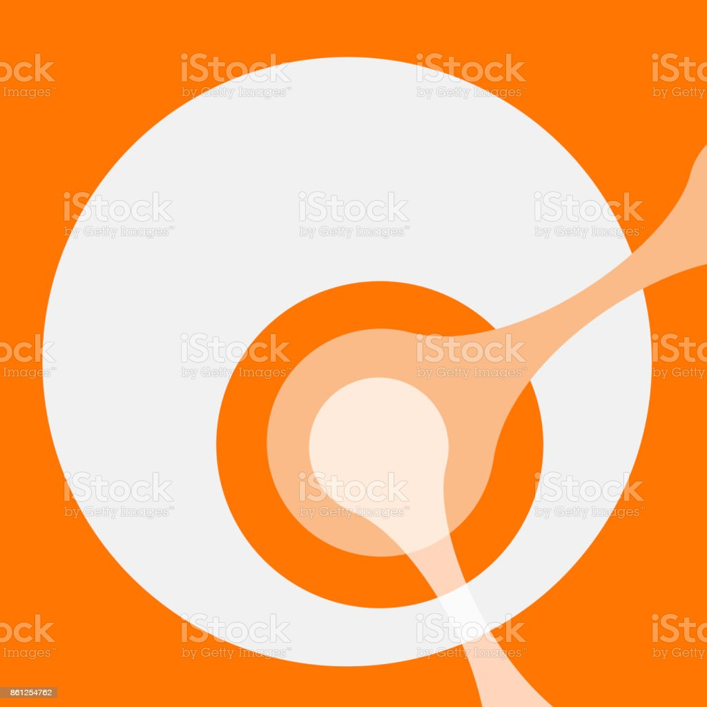 Vector abstract circle DNA icon vector art illustration