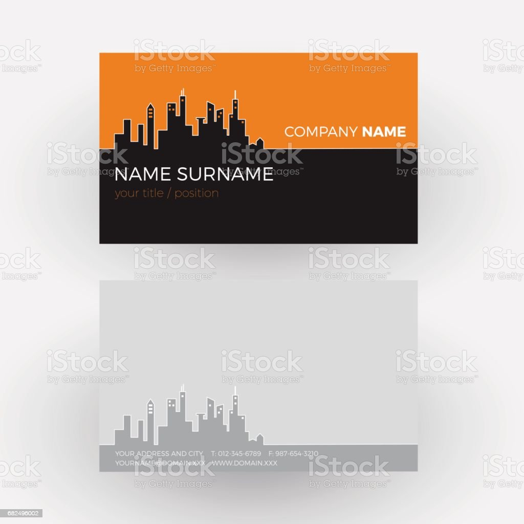 Vector Abstract city and buildings background. Business card royalty-free vector abstract city and buildings background business card stok vektör sanatı & arka planlar'nin daha fazla görseli