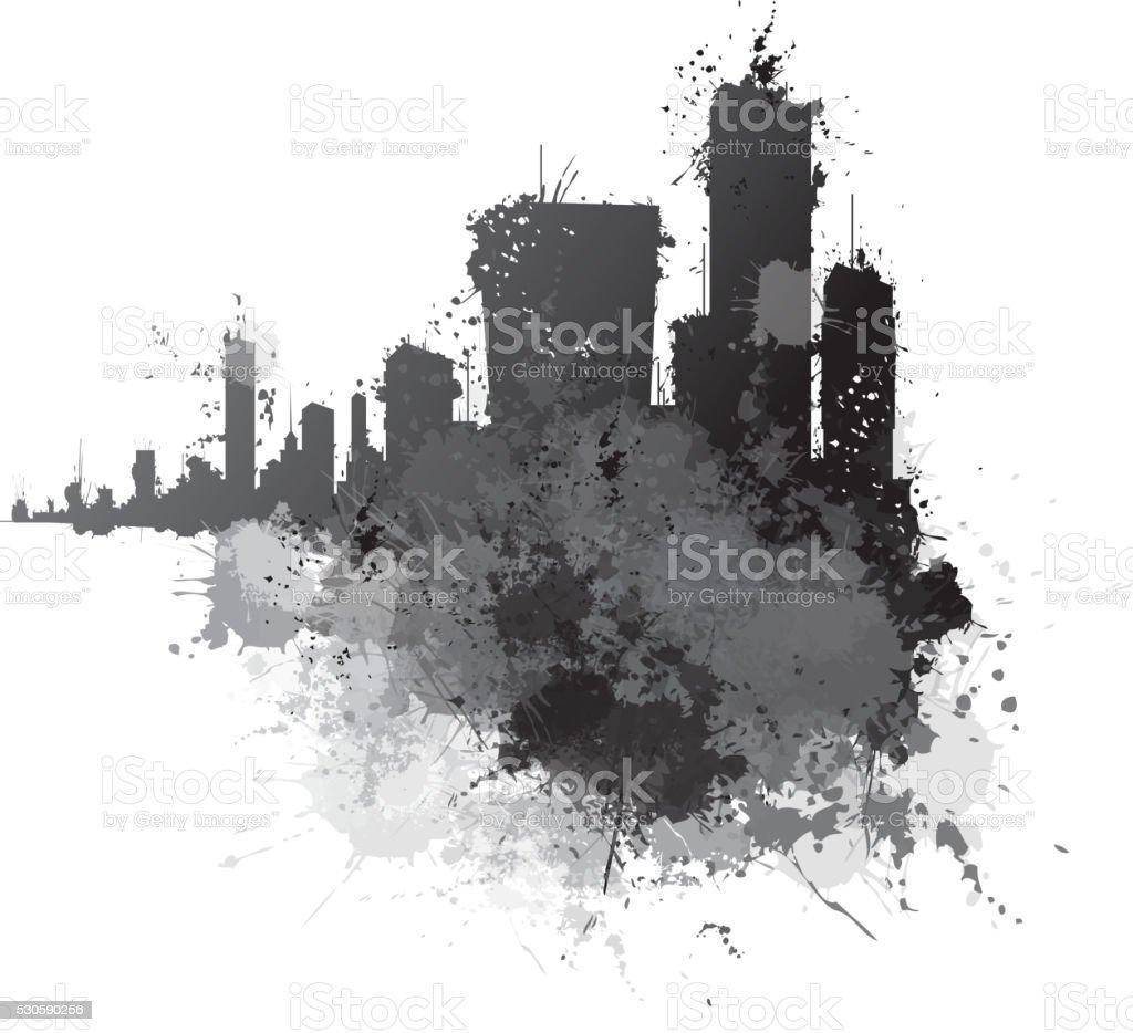 Vector abstract cityscape.
