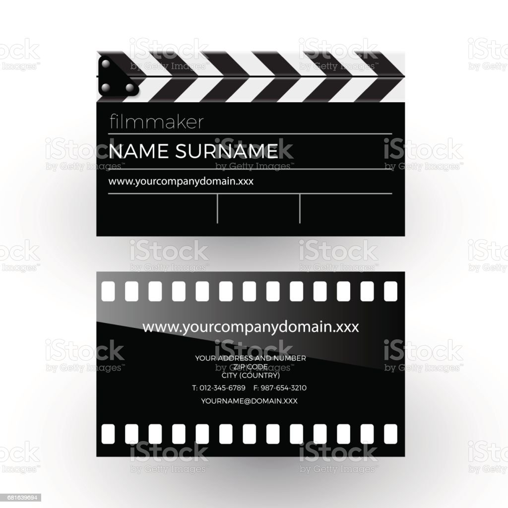 Vector abstract clapperboard and movie film filmmaker concept vector abstract clapperboard and movie film filmmaker concept business card royalty free vector colourmoves