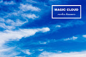 Vector abstract cloud banner
