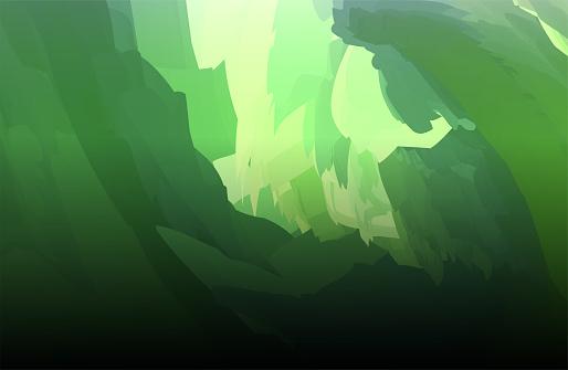 Vector abstract color gradient Surrealism scene background