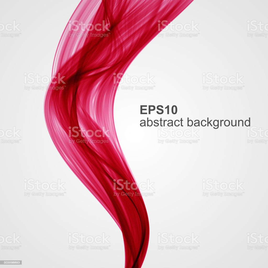Vector abstract colored smoke background vector art illustration