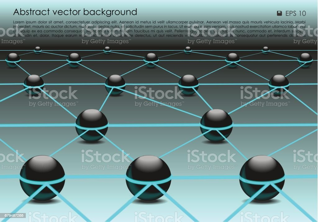 Vector abstract colorful background with 3d ball in blue color royalty-free vector abstract colorful background with 3d ball in blue color stock vector art & more images of abstract