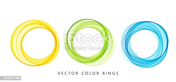 istock Vector abstract colorful round lines isolated on white background. Design element for modern concept. 1316321363