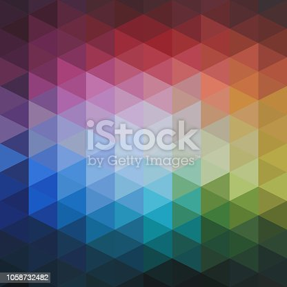 istock Vector Abstract Colorful Triangles Pattern 1058732482