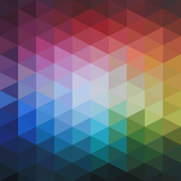 Abstrakte farbige Dreiecke Vektormuster – Vektorgrafik